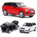 1:32 Бесплатная доставка, модель автомобиля Land-Rover из сплава, модель спортивного автомобиля Range Rover, детская игрушка с светильник светкой и зву...