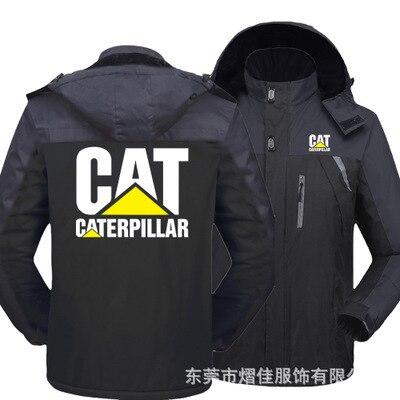Winter Jacket Men for CAT logo Thick Velvet Warm Coat Male Windproof Hooded Outwear Casual Mountaineering Overcoat 1