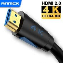 Anmck Cable HDMI 4k Ultra HD 2.0 Lead 4K@60hz 3D ARC HDMI Male to HDMI Male Cord 5m 10m for Splitter Switch PS4 TV Box Projector