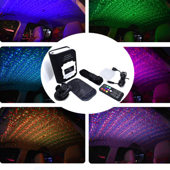 New Car Atmosphere Lights Ambient Star Light Colorful Music Sound Voice Breathe Flashing Remote Control USB LED Decorative Lamps