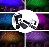 Yeni Araba Atmosferi Işıkları Ortam Yıldız Işığı Renkli Müzik Ses ses Nefes Yanıp Sönen Uzaktan Kumanda USB LED Dekoratif Lambalar