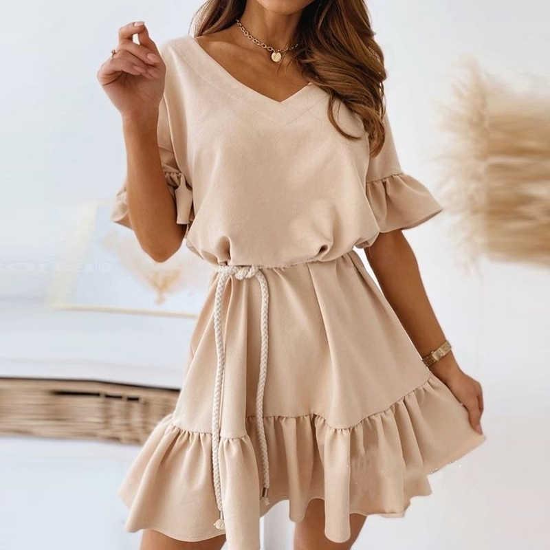الصيف قبالة الكتف فستان الرسن خمر مثير المرأة قصيرة الأكمام فستان قصير الصلبة أنيقة الدانتيل يصل فستان حفلة بدون ظهر Vestidos