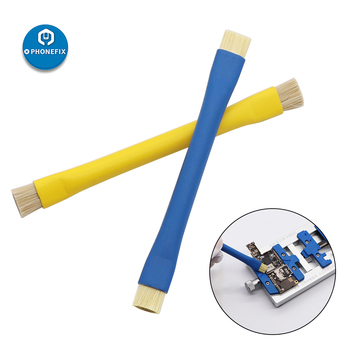 PHONEFIX Brush Double Head Brush Anti-Static Brush ESD Safe Hard Brush For IPhone Repair Motherboard Cleaning Brush
