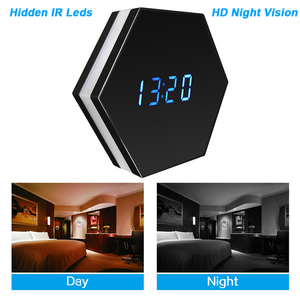 Image 3 - Hebeiros 2MP Batterij Wandklok IP WiFi Camera HD 1080P P2P Audio Nachtzicht Motion Detecion Smart Home CCTV monitor