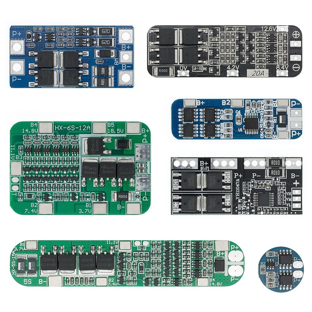 2S/3S/4S/5S литий-ионный Батарея 18650 Зарядное устройство PCB BMS 5A 10A 15A 20A 30A сотовый резервная плата