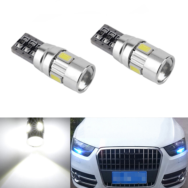 DOTAATDW 2x Canbus Car Wedge Light W5W T10 LED 5630 SMD Auto Lamp Bulb For <font><b>AUDI</b></font> A2 A3 8L 8P A4 B5 B6 A6 4B 4F <font><b>A8</b></font> <font><b>D2</b></font> TT C5 C6 image
