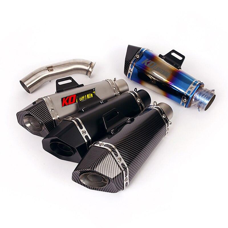 Escape de la motocicleta tubo medio tubo de deslizamiento en 51mm silenciadores de Escape reserva catalizador modificado para Duque 390, 125 de 250 RC390 2017-2021