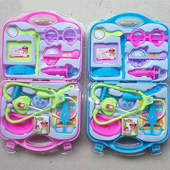Zagraj w zabawka domowa stetoskop zestaw mały zabawkowy zestaw lekarski symulacja tubka z igłą sprzęt medyczny walizka dla dzieci zabawki zaopatrzenie medyczne tanie i dobre opinie CN (pochodzenie) Z tworzywa sztucznego Keep away from the fire 3 lat Unisex Pink Blue Opp bag Doctor toy holiday gift