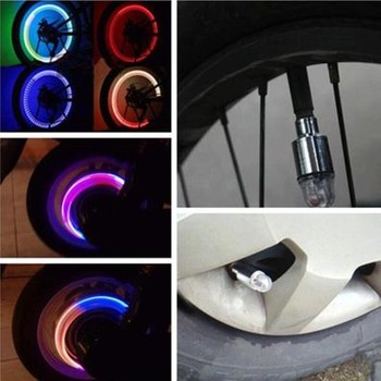2PCS Auto Bike Car Tire Wheel Valve Light LED Wheel Lights Waterproof Wheel Valve Caps Flashing Lights for Car Motorcycle Z3 image