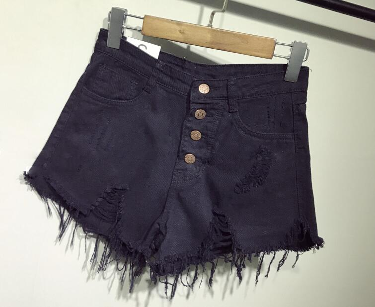 female fashion casual summer cool women denim booty Shorts high waists fur-lined leg-openings Plus size sexy short Jeans 7