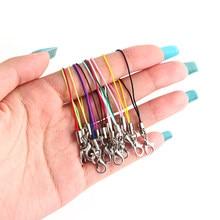 Cordón de mano para 20 piezas, cordón de agarre corto, correa de teléfono móvil para unidad Flash USB, llavero, Soporte para tarjeta de identificación, cuerda colgante artesanal
