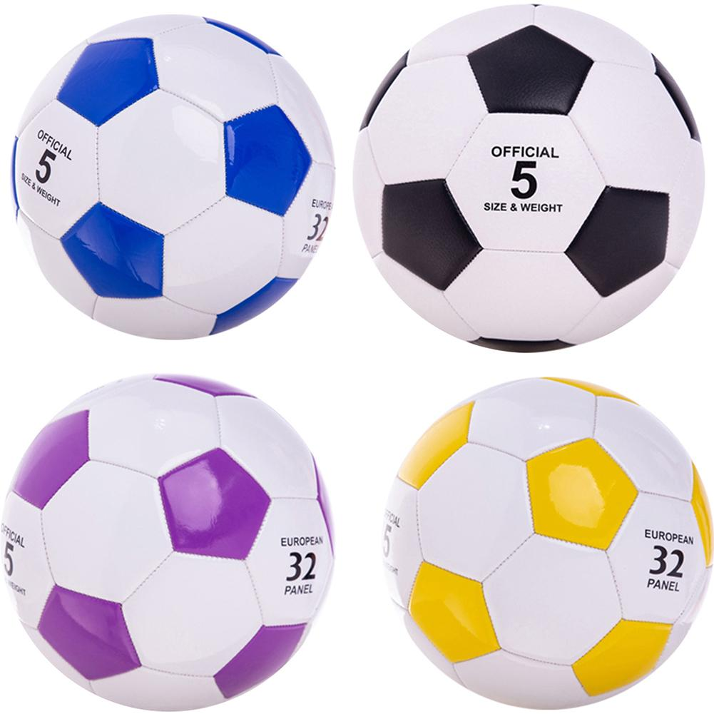 Classic Size 4 5 Faux Leather Wearproof Football Soccer Goal Team Match Training Ball For Student Children Adult Match