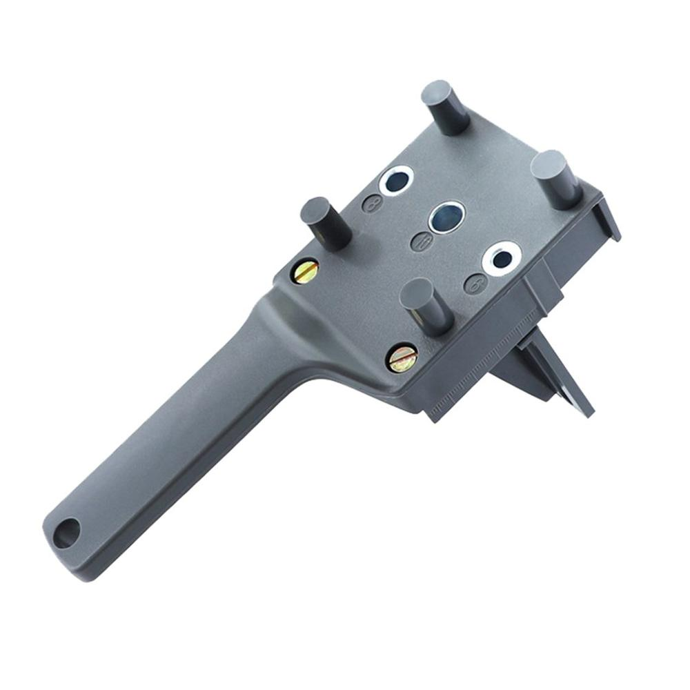 Straight Hole Wood Drill Guide Locator Portable Drilling Puncher Doweling Saw Jig Set Woodworking Carpentry Tools