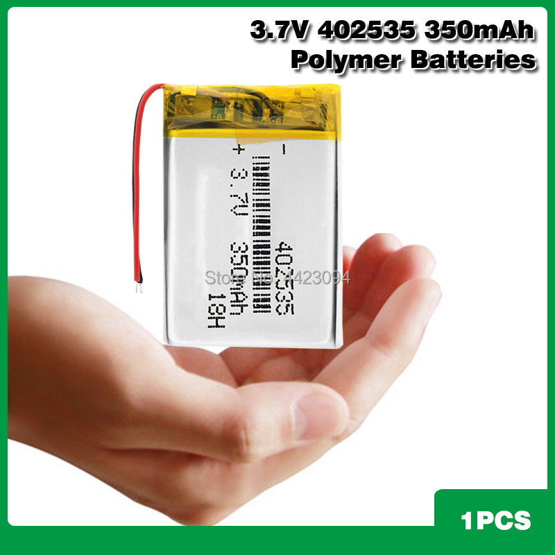 <font><b>3.7V</b></font> polymer lithium <font><b>battery</b></font> 402535 <font><b>350Mah</b></font> Rechargeable Li-ion Cell For GPS car recorder MP3 electronic dog MP4 MP5 Smart Watch image