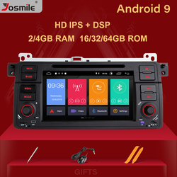 Josmile 1 Din Android 9.0 Gps Navigatie Voor Bmw E46 M3 Rover 75 Coupe 318/320/325/ 330/335 Auto Radio Multimedia Dvd Playerstereo