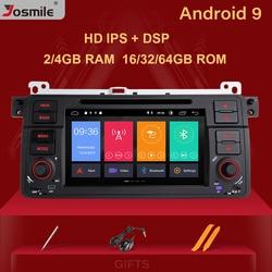 Josmile 1 Din Android 9,0 gps навигации для BMW E46 M3 Rover 75 Coupe 318/320/325/330/335 Автомобиль Радио Мультимедийный DVD PlayerStereo