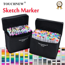 TOUCHNEW Art Marker 168 Colors Alcohol Based Pen Markers Dual Head Sketch Markers Brush Pen for Draw Manga Design Art Supplies портфель italico man коричневый
