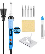 80W LCD Digital Soldering Gun with Adjustable Temperature Welding Iron Fast Heating Electronics Soldering Iron Kit