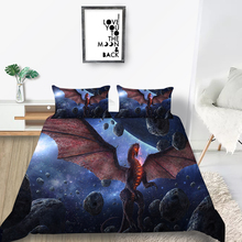 Universe Bedding Set Dragon Mysterious Galaxy Duve