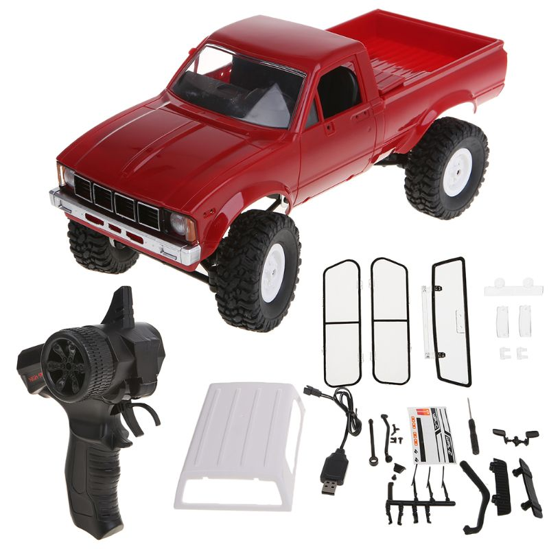 <font><b>WPL</b></font> <font><b>C24</b></font> RC Car 1:16 4WD Remote Control 2.4G Crawler Off-road Buggy Moving Machine Kids Gift AXYA image