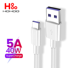 5A 50W USB Type C Cable for Samsung S10 S9 5A Fast USB Charging Type-C Charger Data Cable for Redmi Note 8 Pro USB-C Cable Wire