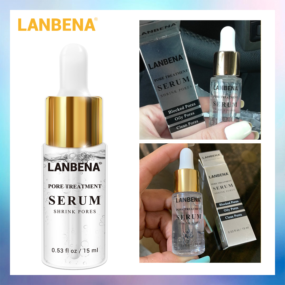 LANBENA Pore Treatment Serum Essence Shrink Pores Relieve Dryness Oil Control Firming Moisturizing Repairing Smooth Skin Care