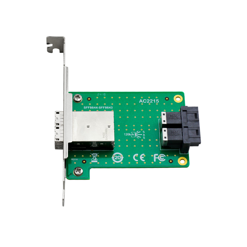 Ceacent AC2215 SFF8643 To SFF8644, Mini Sas Hd Int To Mini Sas Hd Ext, 12gbs  Riser Card