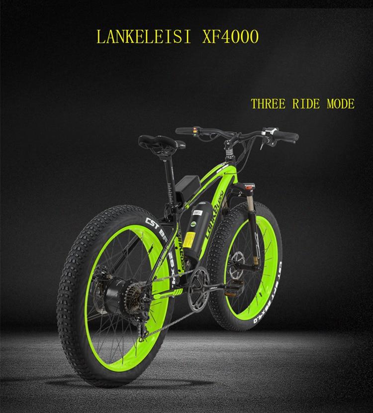 "XF4000 LANKELEISI 26"" 1000w 48v 16AH Panasoni'c Battery electric bike 2"