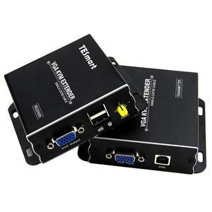 Image 1 - USB VGA KVM Extender 300M 1080P 60Hzยาว984ft Over Cat5e Cat6 Ethernet VGA Extender (Up To 300M,sender + Receiver)