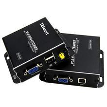 Usb Vga Kvm Extender 300M 1080P 60Hz Lange Bereik 984ft Over Cat5e Cat6 Ethernet Kabel Vga Extender (Tot 300M, zender + Ontvanger)
