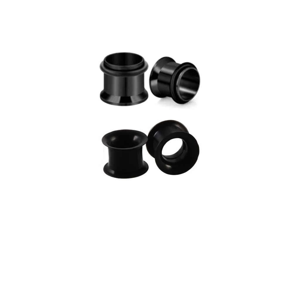 Piercing industrial 4 pçs acrílico silicone orelha flare parafuso alongamento kit de impressão anel cone oco plug túnel expansor calibres conjunto