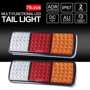2PCS 75LED Truck Trailer Tail Light 12V LED Parking Lights Car Rear Lamp Accessories 3 Colors