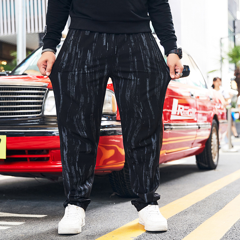 Print Black Sweat Pants Men Clothes Spring Autumn Loose Trousers Mens Joggers Plus Size 8XL 9XL 10XL For 155KG Big And Tall Men