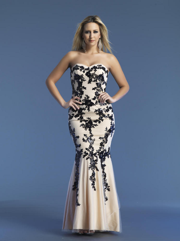 Long Prom Gown Mermaid 2018 Sweetheart Black Lace Appliques Nude Color Floor Length Evening Gown Mother Of The Bride Dresses