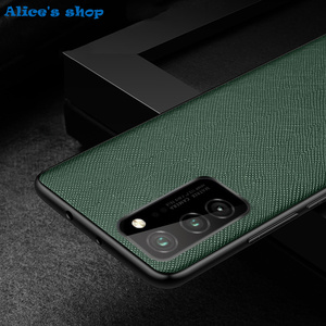 Image 4 - Fashion Cross Genuine Leather & TPU Back Case For Honor View30 V30 Pro Luxury Slim Shockproof Cover Case For Honor View 30 Pro