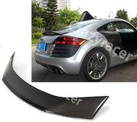 Trunk Lip Spoiler Wing For Audi TT 8J 08-13 C Style Carbon Fiber