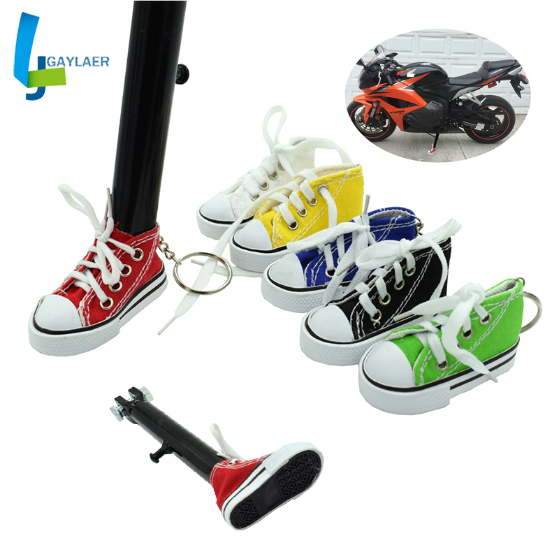 Motorcycle Side Kickstand Stand Bicycle Bracket Extension Plate Mini Shoes Keychain Scooter Foot Suppor Electric Vehicle Bracket