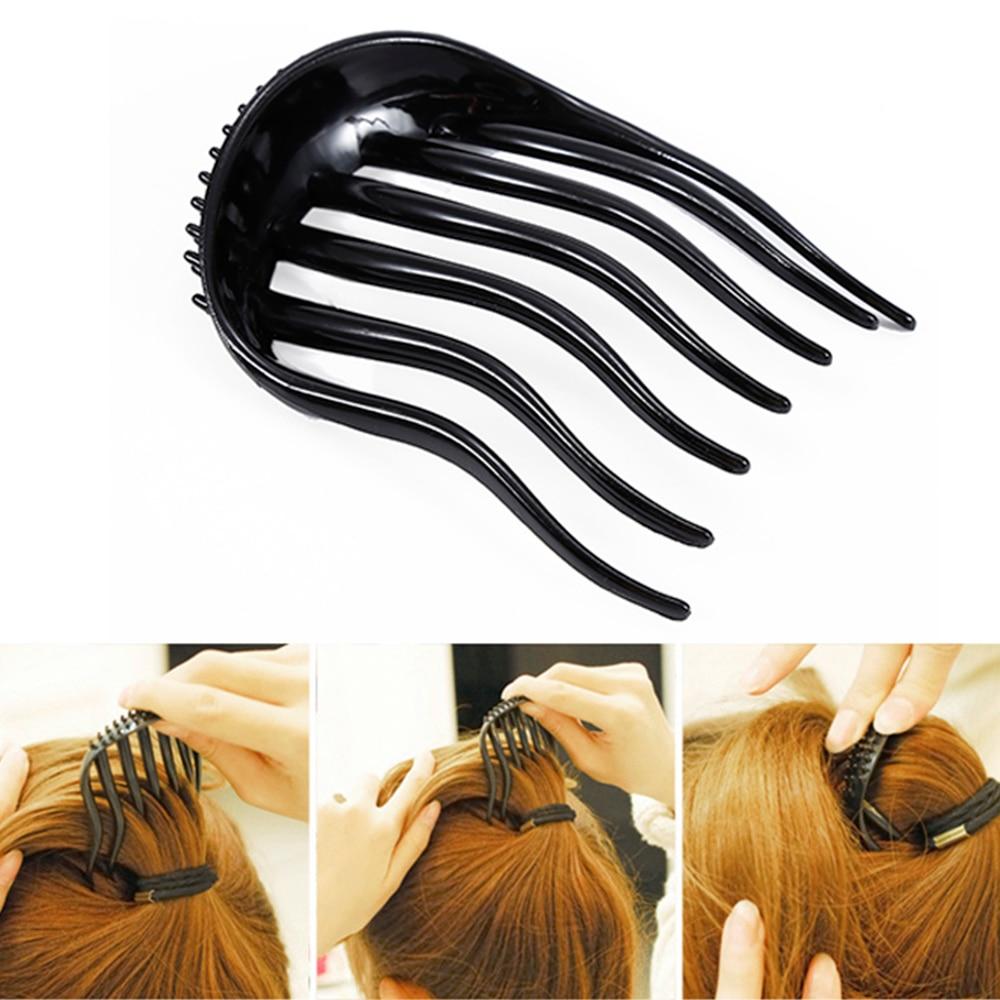 Professional 1PC Hair Comb Shower Hair Brush Clip Fluffy Stick Bun Maker Braid Salon Hair Styling Tamer Tool Hot Selling