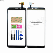 6.0' Touch Screen For Bluboo S8 Plus Touch Screen Digitizer Panel Front Outer Glass Lens Sensor TouchScreen Tools Adhesive