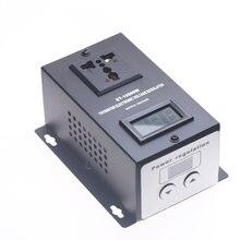 Regulador de voltaje electrónico SCR AC 220V 10000W, velocidad de temperatura, ajuste del controlador del Motor del ventilador