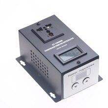 AC 220V 10000W SCR אלקטרוני מתח רגולטור טמפרטורת מהירות מאוורר מנוע להתאים בקר