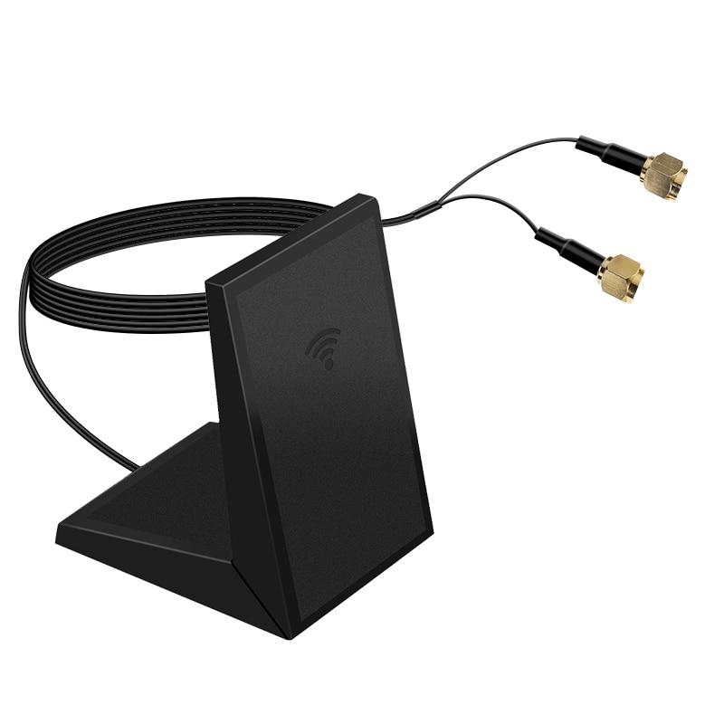 1 Pair Universal Desktop Laptop 93CM Managetic Antennas Wireless Wifi External Antenna For Wifi Card Adapter Intel AX200 9260