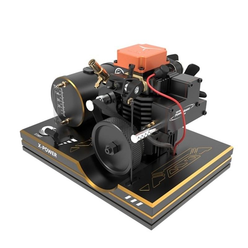Toyan FS-S100A 4 Stroke Methanol Engine Set Battery Start ESC Base For 1:10 1:12 1:14 RC Car Boat Airplance Model