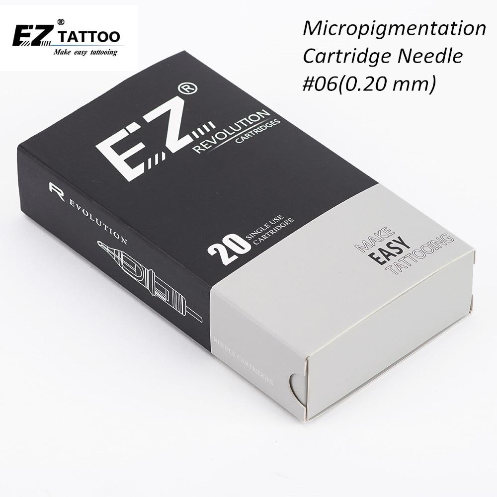 EZ Revolution Cartridge # 06 ( 0.20 Mm ) Round Liner Tattoo Needles For Permanent Makeup Eyebrows Eyeliner Lips