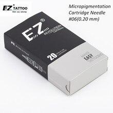 EZ Revolution Cartridge agujas de tatuaje con delineador redondo, #06 (0,20 MM), para maquillaje para cejas permanente, delineador de ojos y labios
