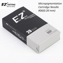 EZ révolution cartouche #06 (0.20 MM) aiguilles de tatouage de revêtement rond pour maquillage Permanent sourcils Eyeliner lèvres