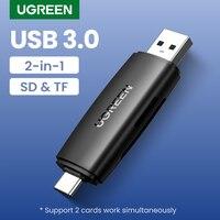 Ugreen USB Kartenleser 2in1 Typ C USB 3,0 zu SD Micro SD TF Adapter für Laptop Telefon OTG Kartenleser smart Memory SD Kartenleser