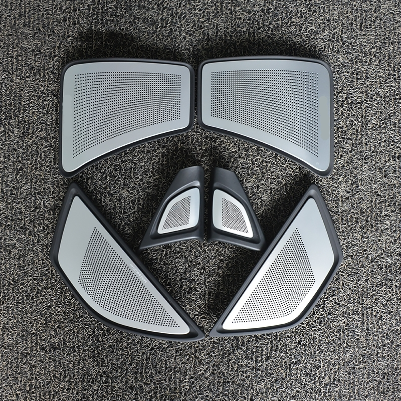 6 <font><b>pcs</b></font> car horn cover For <font><b>BMW</b></font> F10 F11 5 series high quality front rear door tweeter lid original suit audio speaker panel trim image