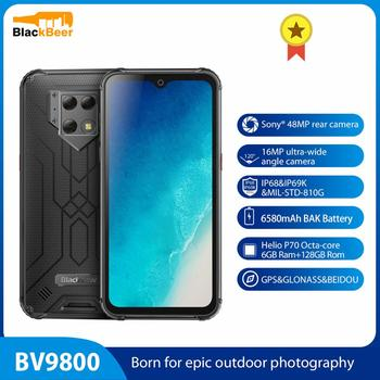 Blackview BV9800 6.3 Inch IP68 Rugged Smartphone 6GB 128GB Helio P70 Mobile Phone 48.0 MP Rear Camera 4G Cellphone NFC 6580mAh