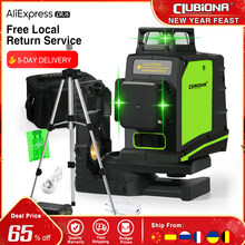 Clubiona – niveau Laser 3D à nivellement automatique, certifié CE, avec Diode Laser de marque allemande, ligne Laser verte Super puissante, 360 degrés